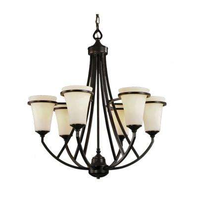 6-Light Antique Bronze Chandelier