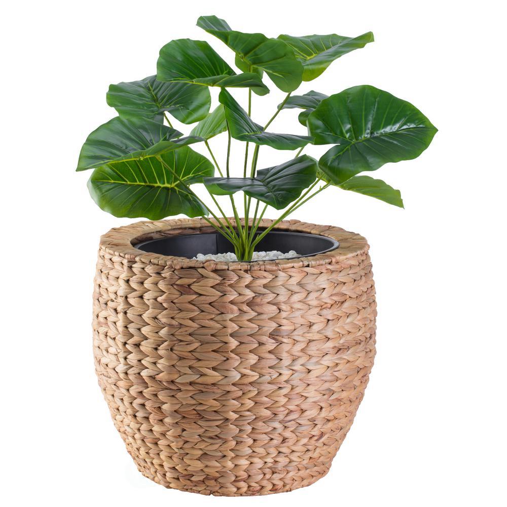 Water Hyacinth Round Floor Planter
