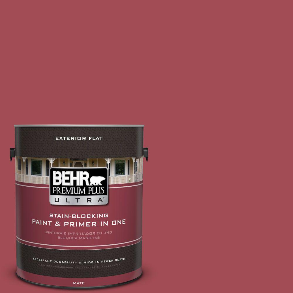 1 gal. #HDC-FL15-02 Cranberry Jam Flat Exterior Paint