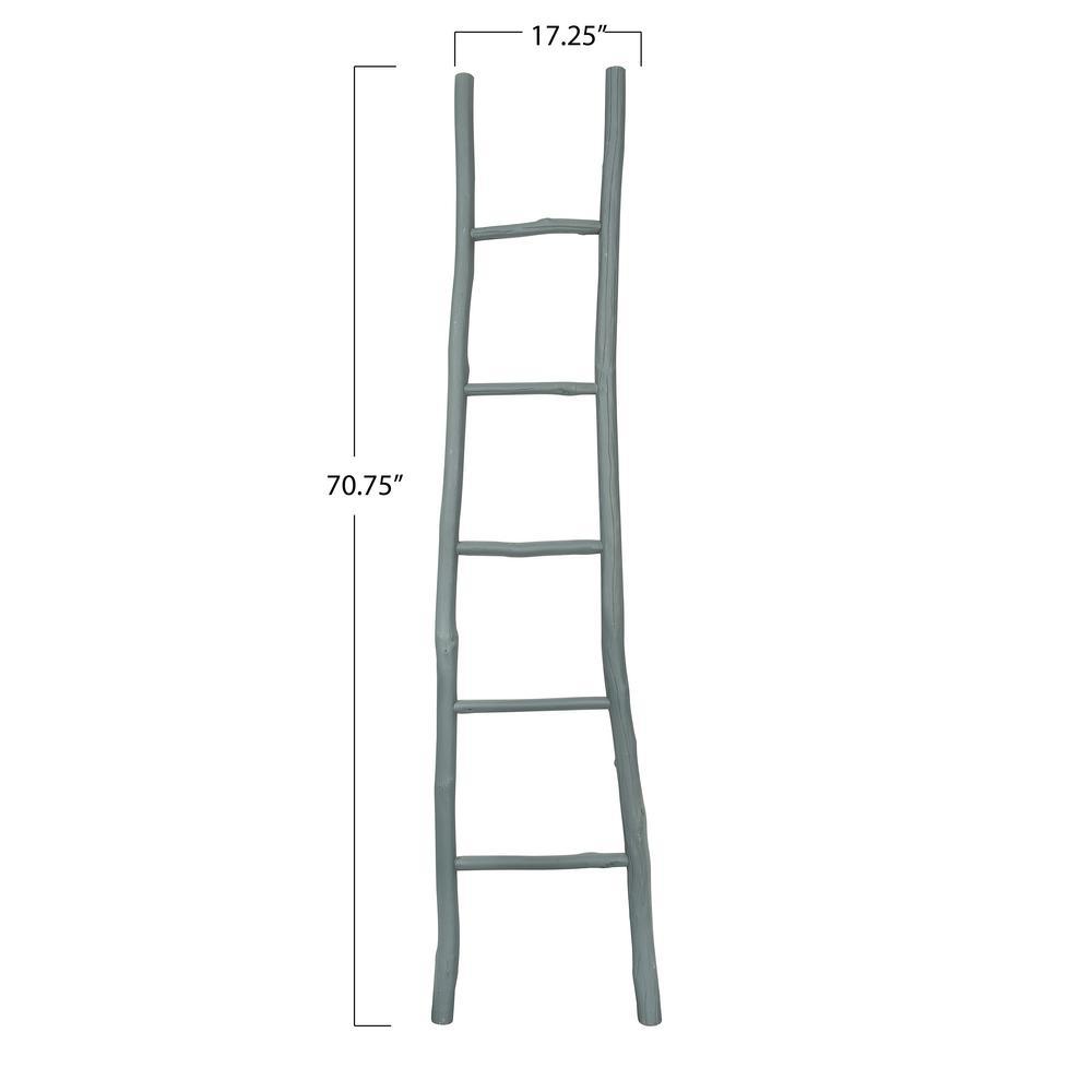 Grey Decorative Wood Ladder