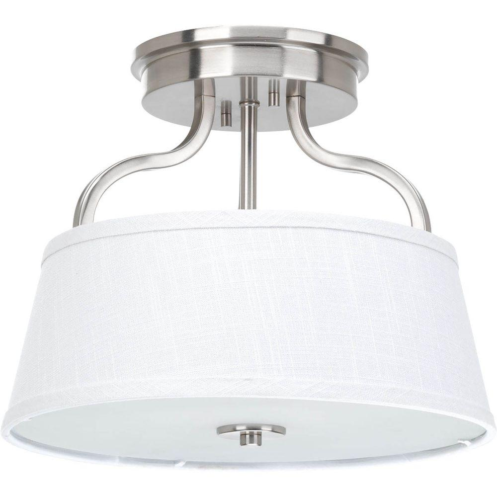 Light Fixture Collections: Progress Lighting Kensington Collection 1-Light Brushed