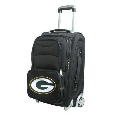 NFL Green Bay Packers 21 in. Black Carry-On Rolling Softside Suitcase