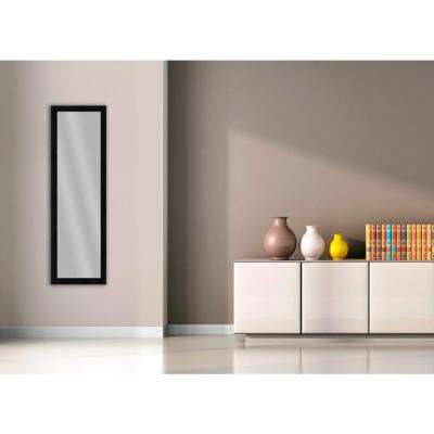 51.875 in. x 15.875 in. Wood Grain Black Framed Mirror