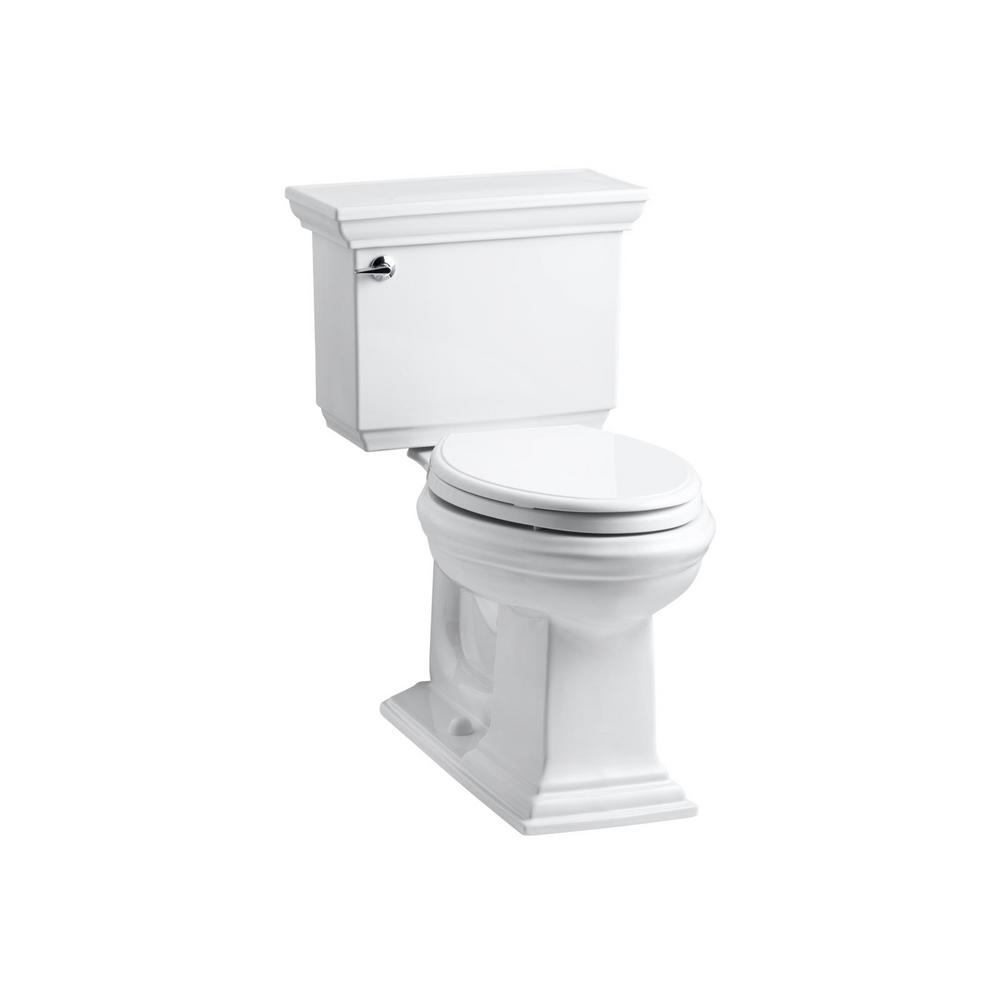 KOHLER Memoirs Stately 2-Piece 1.6 GPF Single Flush Elongated Toilet in White with Rutledge Quiet Close Toilet Seat