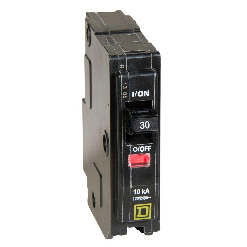 Square D HOM130 30A 1 Pole Breaker w// New Style Lettering **Free Shipping**