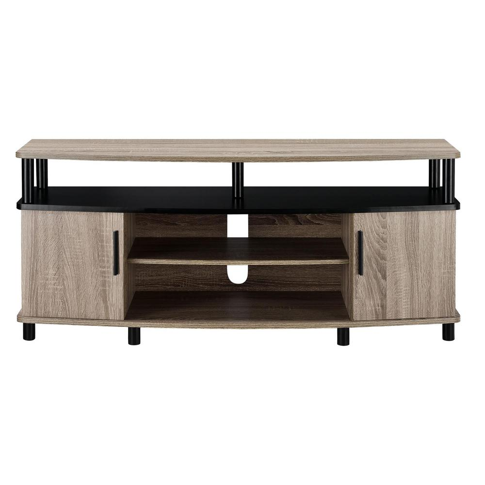 Weathered Oak Tv Stand With Storage