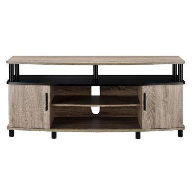 Windsor 50 in. Weathered Oak TV Stand with Storage