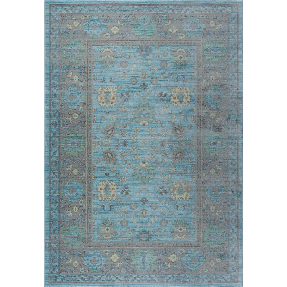 Tayse Rugs Heritage Aqua 7 Ft 10 In X 9 Ft 10 In Area