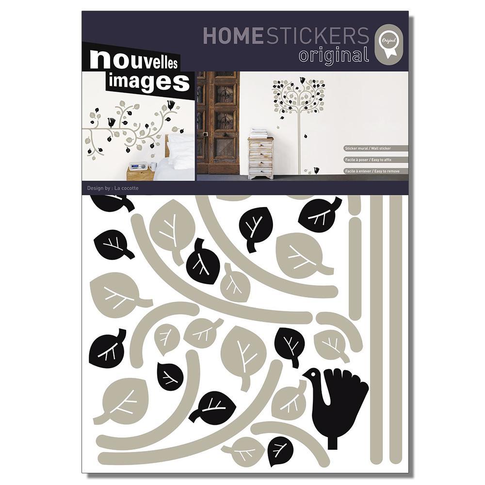 Multicolor Folk Tree Home Sticker
