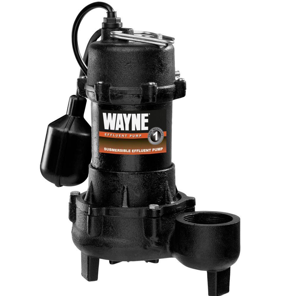 Wayne 1/3 HP Cast Iron Effluent Pump-DISCONTINUED