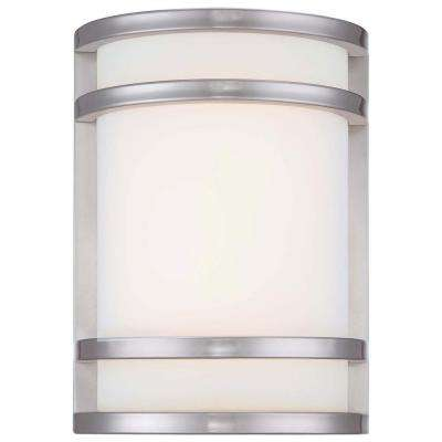 Bay View 1-Light Stainless Steel Outdoor LED Pocket Lantern