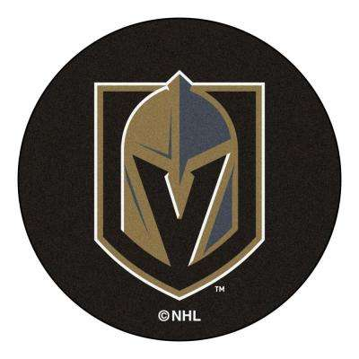 NHL - Vegas Golden Knights 27 in. Round Puck Mat Area Rug