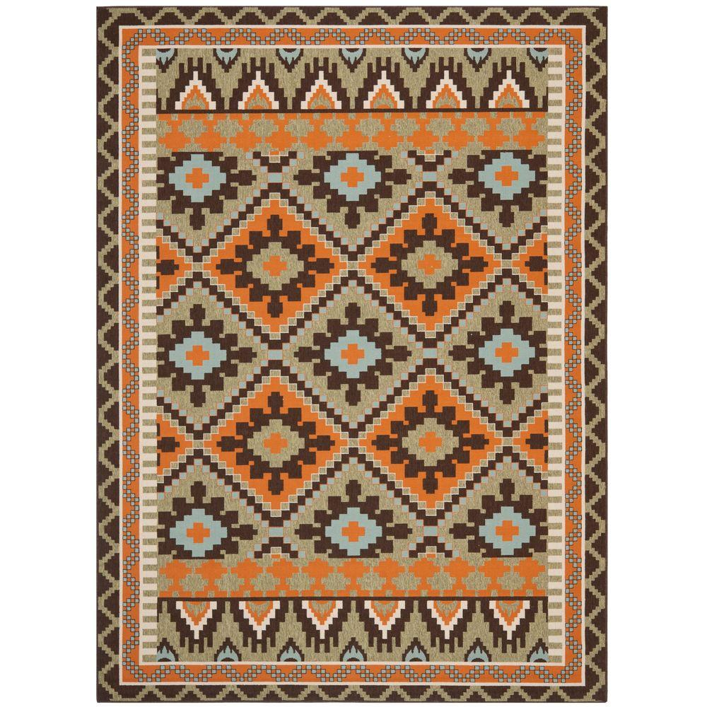 Safavieh Veranda Green/Terracotta 8 ft. x 11 ft. 2 in. Indoor/Outdoor Area Rug