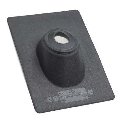 13 in. x 1.05 ft. Black Plastic Pipe Flashing