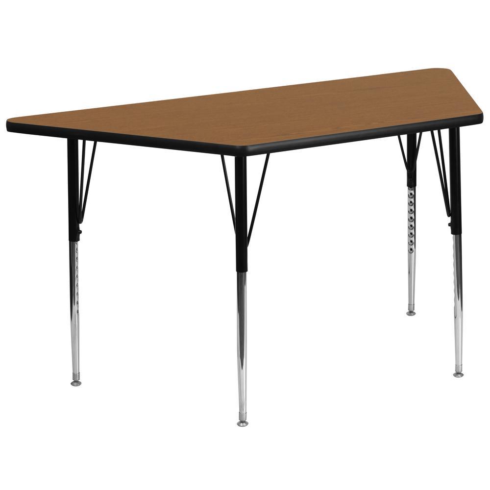 Flash Furniture Oak Kids Table XUA3060TRPOAKTA