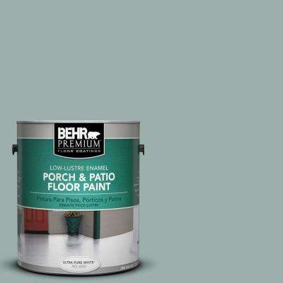 1 gal. #490F-4 Gray Morning Low-Lustre Interior/Exterior Porch and Patio Floor Paint