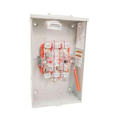 200-Amp 5 Terminal Ringless Heavy Lever Bypass Duty Overhead Meter Socket