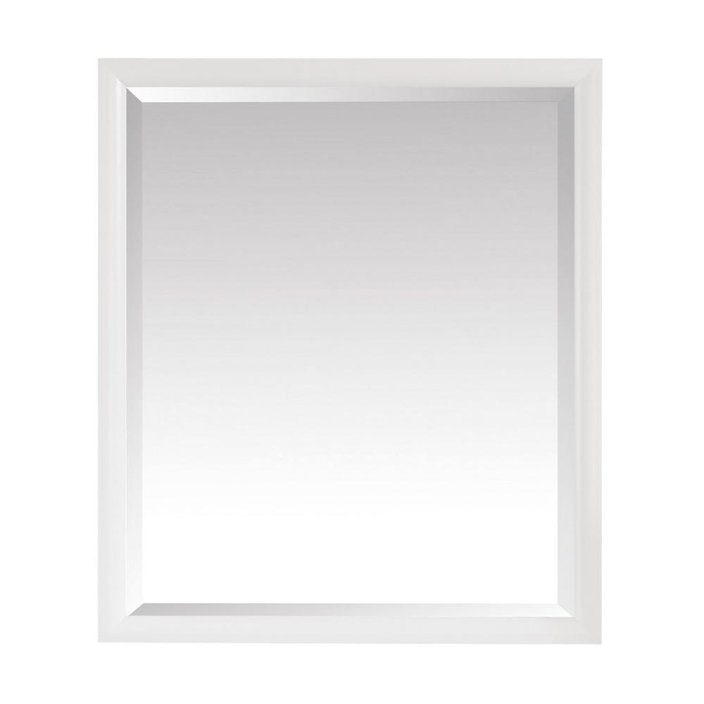 Avanity Emma 28 in. x 32 in. x 24 in. Framed Wall Mirror in White