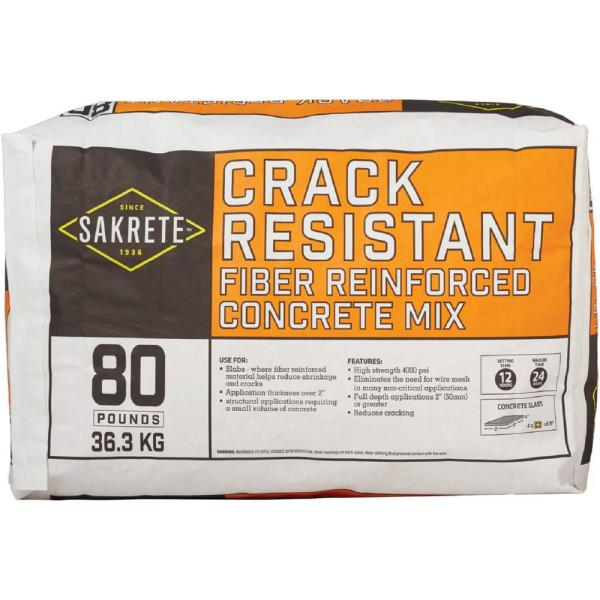 80 lb. Crack Resistant Concrete Mix