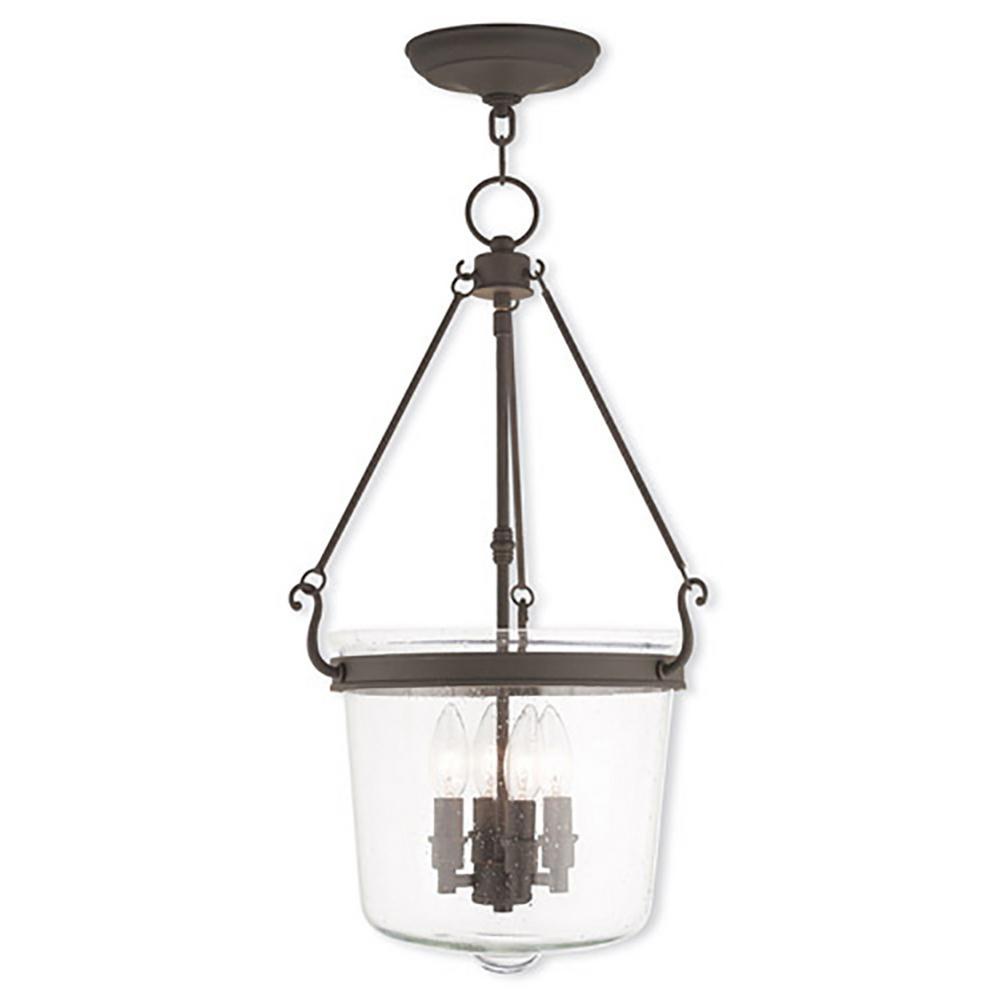 Livex Lighting Winchester 4-Light Bronze Pendant