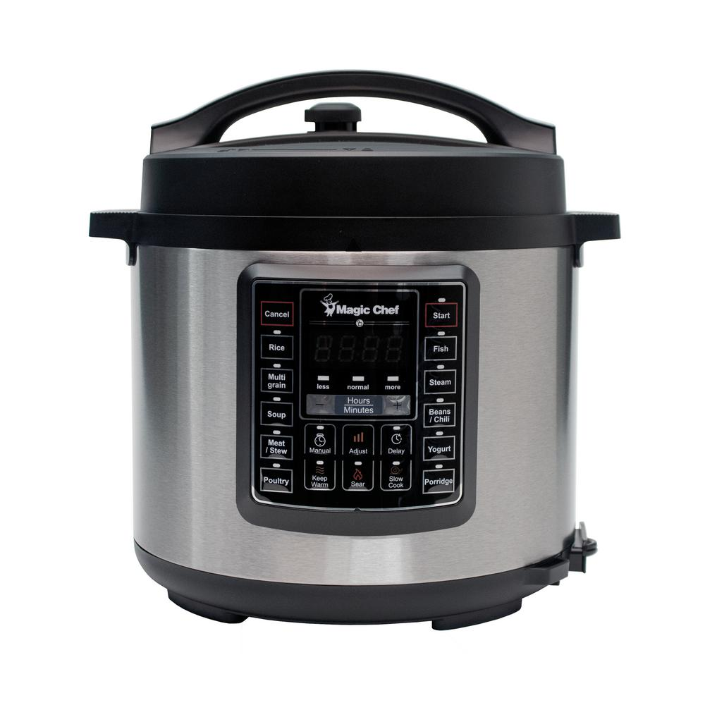 All In One Kitchen Appliance.Magic Chef 6 Qt All In One Multi Cooker Mcsmc10s7 The Home Depot