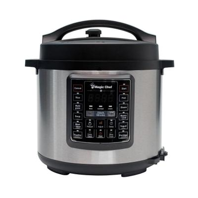 All-In-One 6 Qt. Stainless Steel Electric Multi-Cooker with Recipe Book