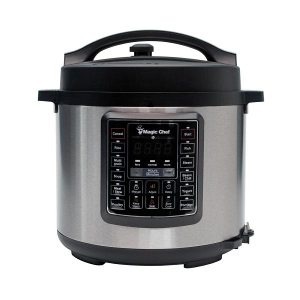 Magic Chef All-In-One 6 Qt. Stainless Steel Electric Multi-Cooker with Stainless Steel Pot