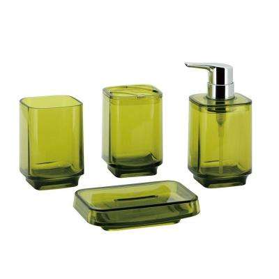 Bright Collection 4-Piece Bath Accessory Set in Yellow
