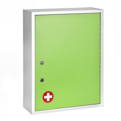 21 in. H x 16 in. W x 6 in. D Large Dual Lock Surface-Mount Medical Security Cabinet in Green