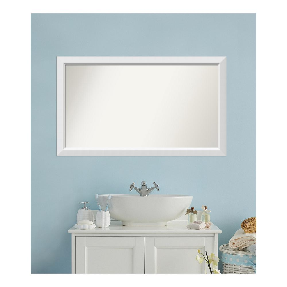 Amanti Art 27 in. x 46 in. Blanco White Wood Framed Mirror was $504.95 now $244.9 (52.0% off)