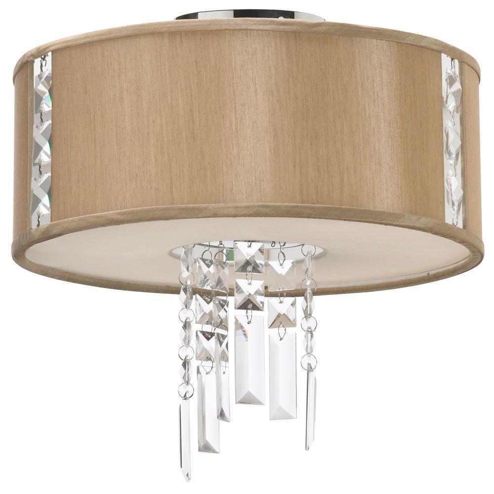 Filament Design Catherine 2-Light Polished Chrome Semi-Flush Mount Light