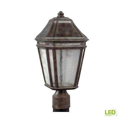 Londontowne Outdoor Weathered Chestnut Integrated LED Post Light