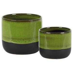 Urban Trends Collection Green Gloss Stoneware Decorative Vase by Urban Trends Collection