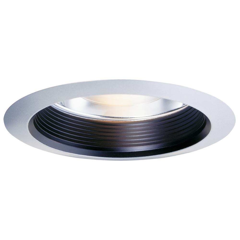 Halo 30 Series 6 In White Recessed Ceiling Light Fixture Trim Kit With Air E Black Baffle And Clear Reflector