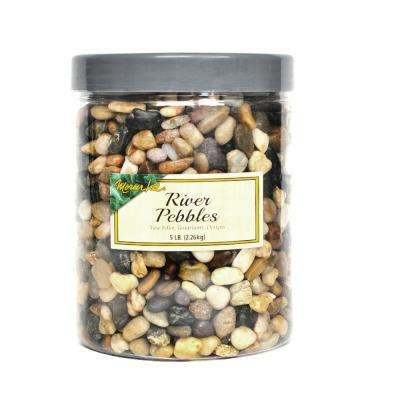 5 lbs. River Pebbles in Storage Jar