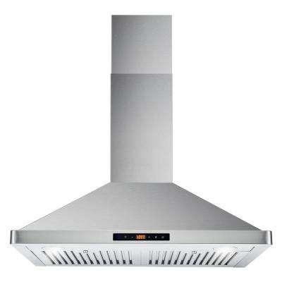 30 in. Ducted Range Hood in Stainless Steel with Touch Controls, LED Lighting and Permanent Filters