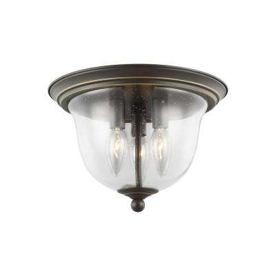 Belton 3-Light Heirloom Bronze Flush Mount