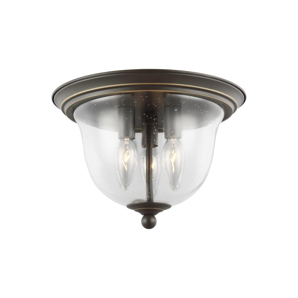 Belton 3-Light Heirloom Bronze Flushmount