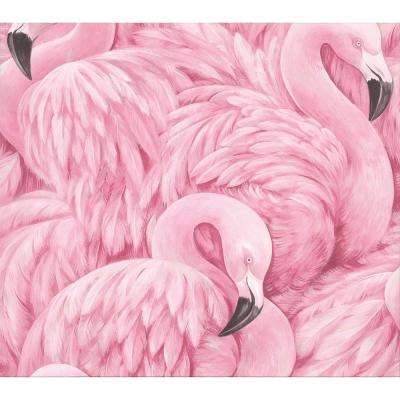 Horace Pink Flamingos Strippable Roll (Covers 55 sq. ft.)