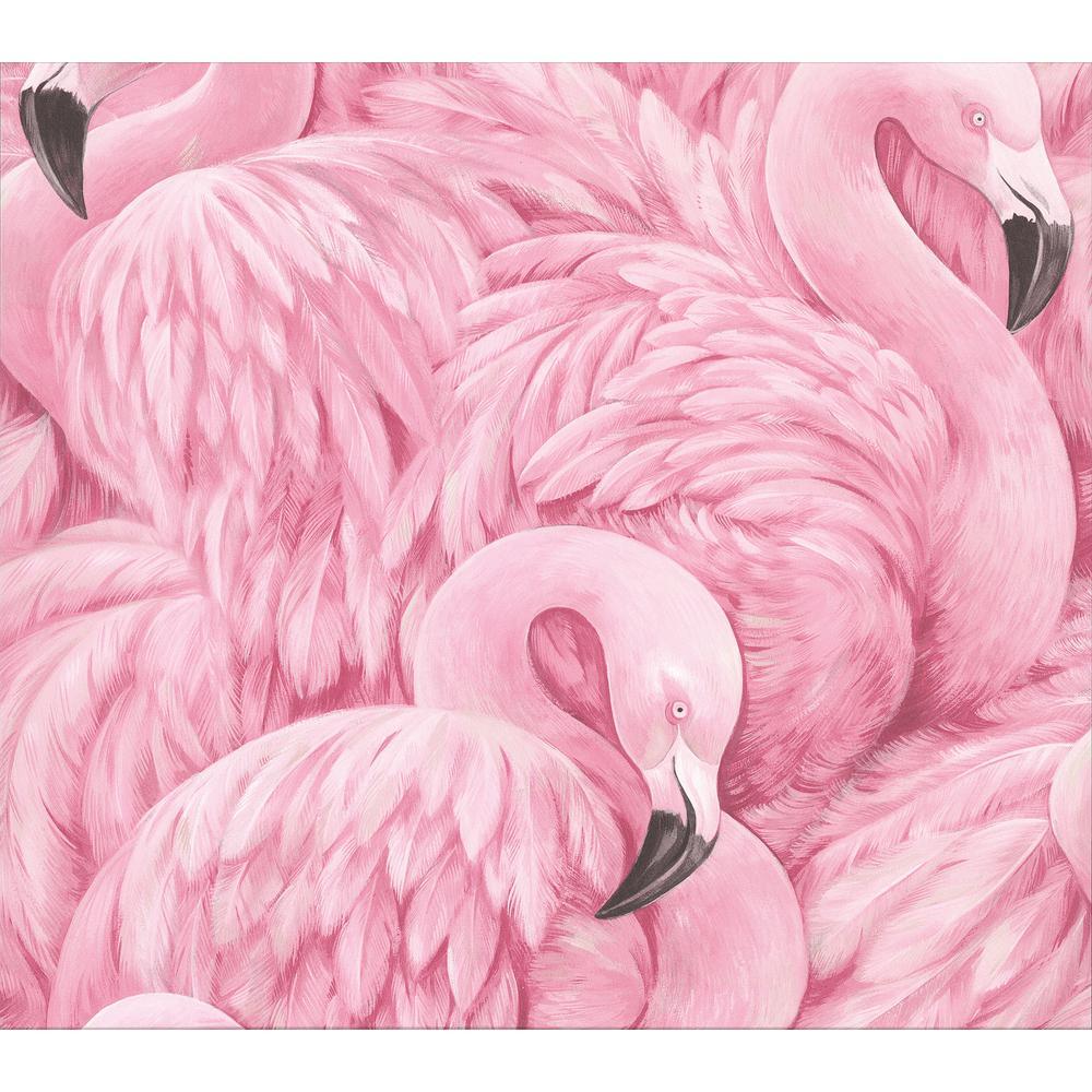 Horace Pink Flamingos Pink Wallpaper Sample
