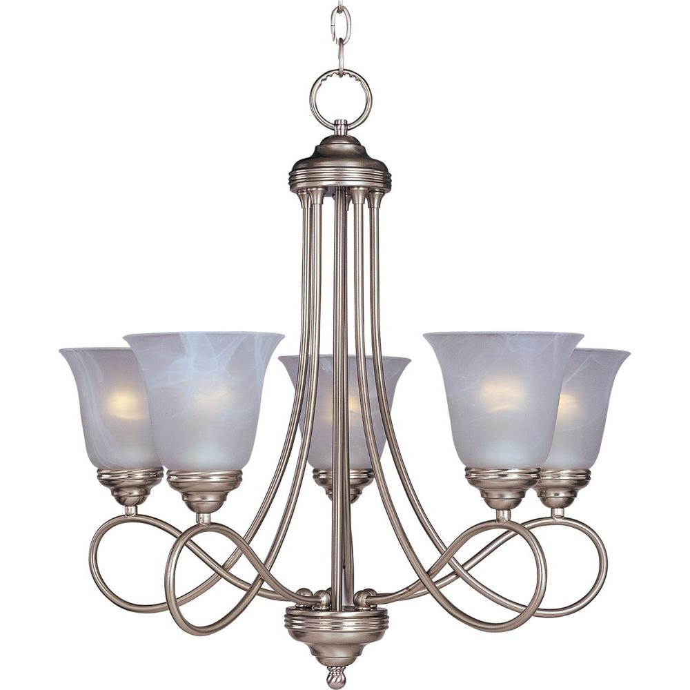 Maxim Lighting Nova 5 Light Satin Nickel Chandelier