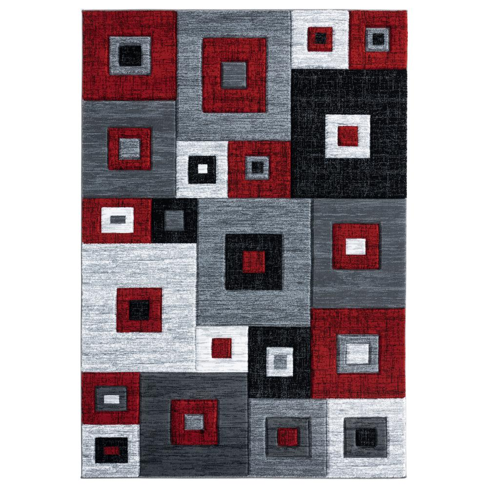 United Weavers Bristol Cicero Red 1 ft. 10 in. x 2 ft. 7 in. Accent Rug