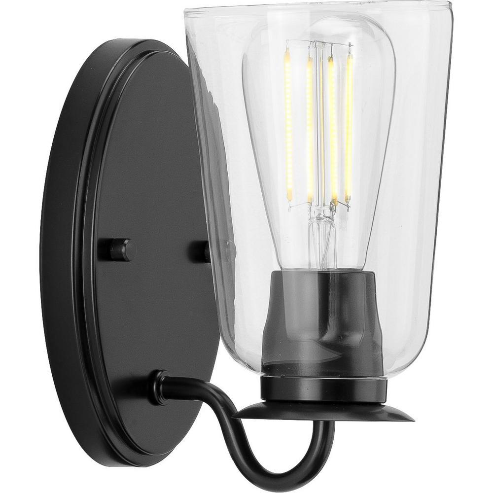 Durrell 1-Light Black Bath Light