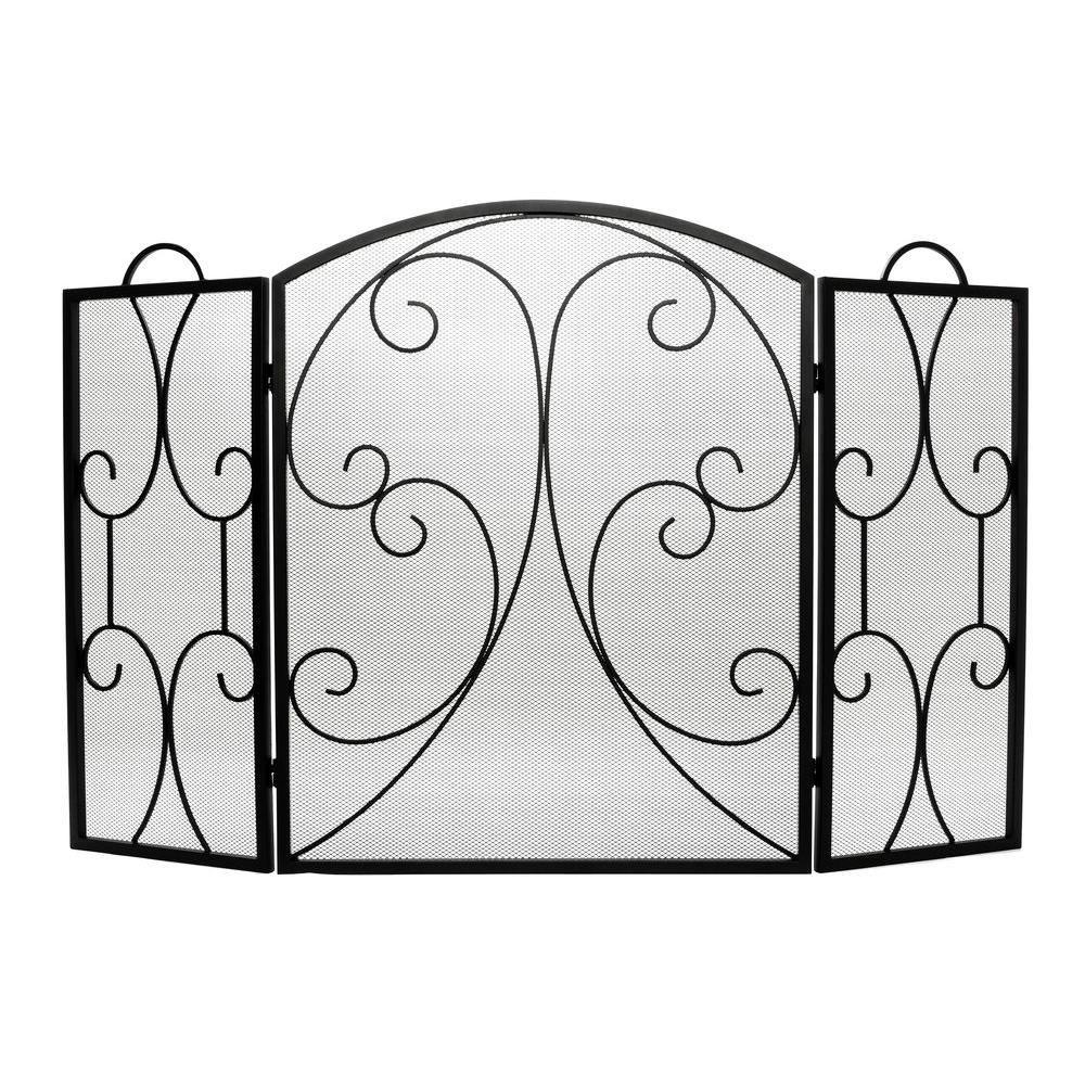 home decorators collection hearthway 3 panel fireplace screen kd