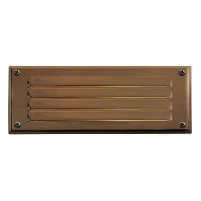 7.75 in. 3.8-Watt LED Matte Bronze Step and Stair Deck Light