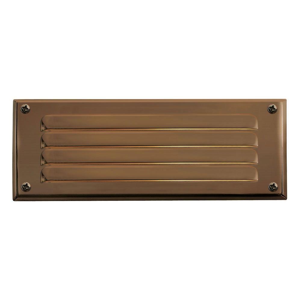 7.75 in. 3.8-Watt LED Matte Bronze Step and Stair Deck Light