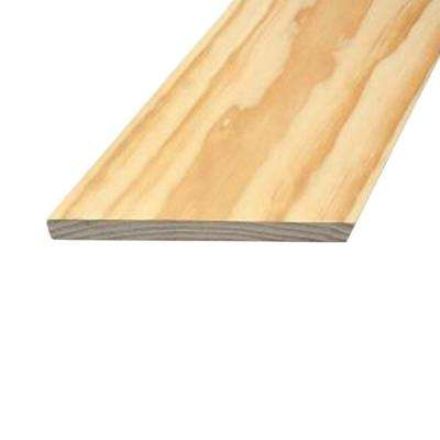1 in. x 6 in. x 12 ft. Select Radiata Square Edge Pine Board