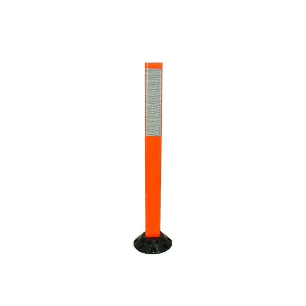36 in. Repo Post Workzone Orange Delineator Post with Base and