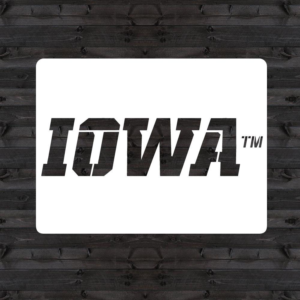 """""""IOWA"""" Mini Stencil"""