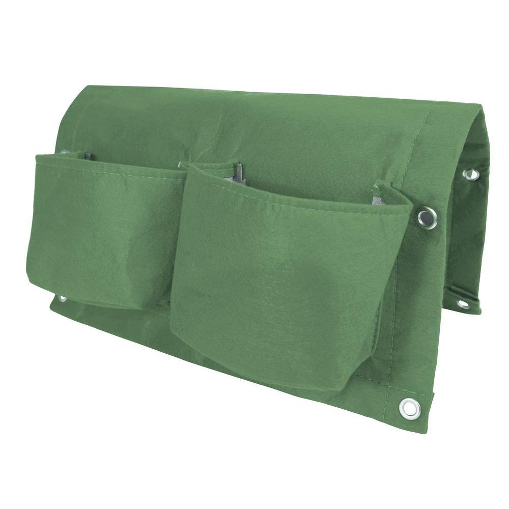 Bagz Railing 18 in. Living Green Fabric Planter